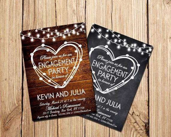 Engagement Party Invitation Engagement invitation by DigitalLine