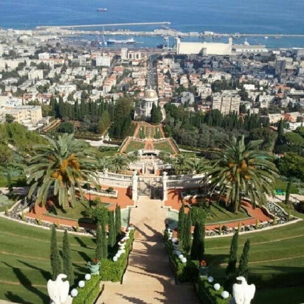 the Bahai Holy Place is heaven on earth in Haifa #Israel