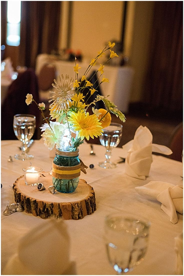 Blue and Yellow Lodge Wedding