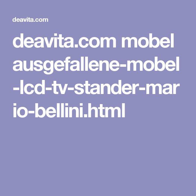 Ausgefallene Mobel Lcd Tv Stander Mario Bellini Best Ausgefallene ...