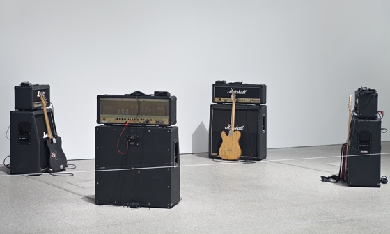 View of Metal Machine Music (Lou Reed, 1975) in the exhibition The New Trade / O Novo Ofício, Museu Coleção Berardo, Lisboa / Portugal, 2012. Photo: David Rato