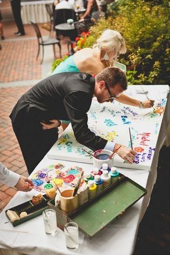 9 Kreative Ideen für Erinnerungen an die Hochzeitsfeier, von Gästen gestaltet