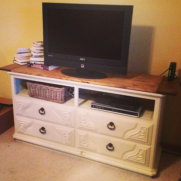 Divano Letto Friheten Ikea Usato ~ Dresser turned TV Stand  Dream Home  Pinterest