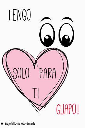 Tarjetas o poster para san valentin. #amor #love #sanvalentin #valentineday #postal #postcard www.bajolalluviahandmade.com