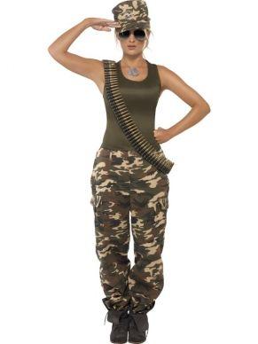 Khaki Camo Camouflage Leger Army Kostuum snel thuis bezorgd!