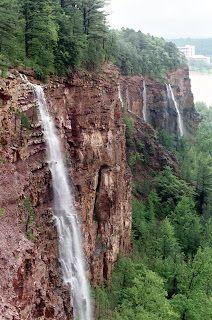Emerald Park, North Little Rock, Arkansas. Short little hike. Overlooks the Arkansas River.