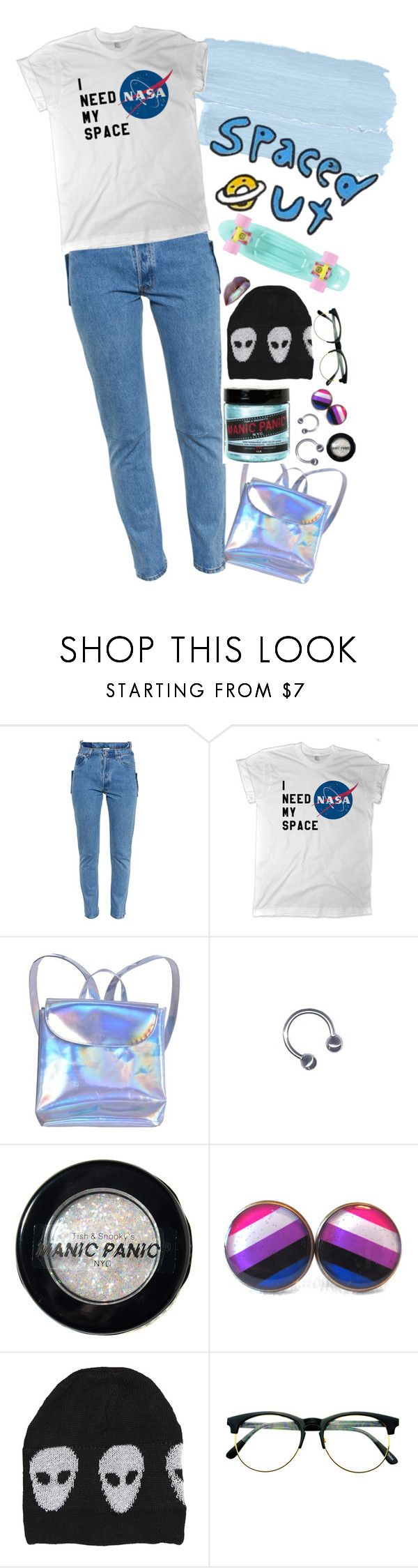 """""""spaced out!!"""" by tokyofoool ❤ liked on Polyvore featuring Vetements, Manic Panic NYC, Evil Twin and Retrò"""