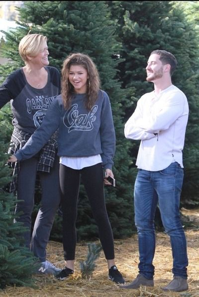 Zendaya and Val out shopping for Christmas trees in Los Angeles (7/12/14)