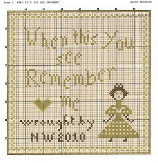 when this you see remember me free cross stitch