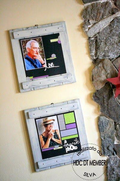 Hobby di Carta - Il blog: Layout: nuova vita a vecchi pezzi di legno by Silva