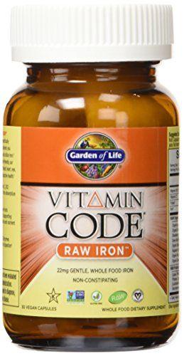 Garden of Life Vitamin Code Iron, 30 Capsules Garden of Life