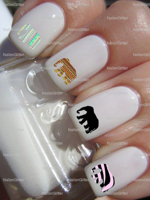 17 best african nails designs images on pinterest nail scissors african elephant nail art nail water decals nail transfers nail wraps 4 designs on etsy prinsesfo Images