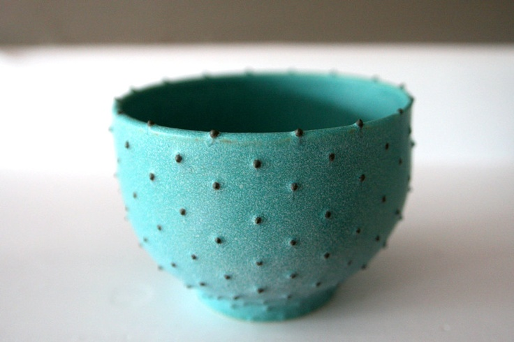 Stoneware Bowl with Dots