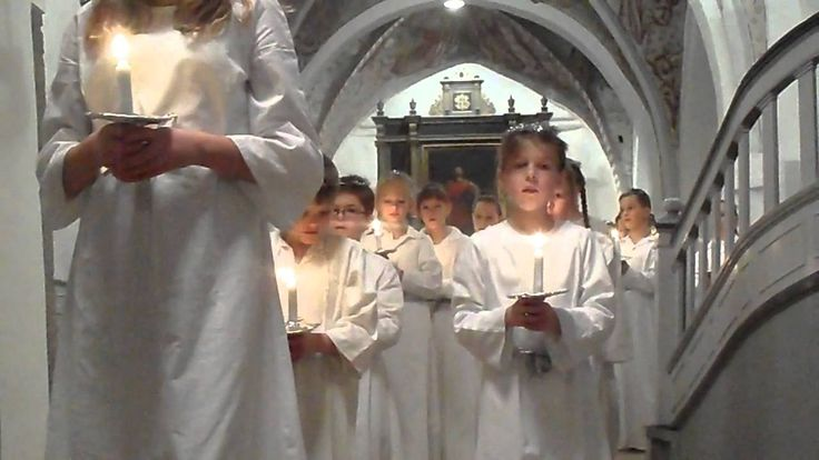 """Sankta Lucia"" tradition to sing the 13. of December. The celebrating of the light."