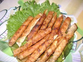 """Самые вкусные рецепты: Закусочные """"Сигареллы"""" из лаваша"""