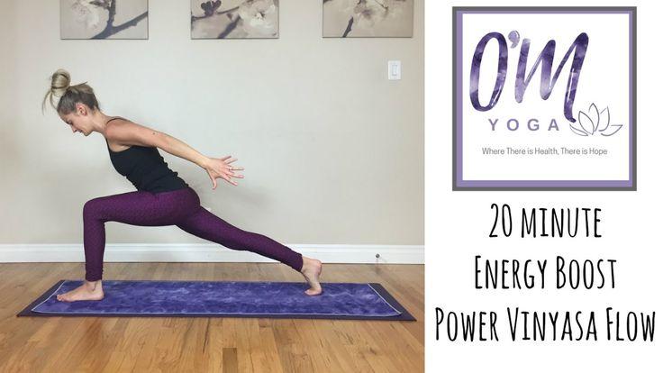 Power Vinyasa Yoga - 20 Minute Full Body Energy Boost - YouTube