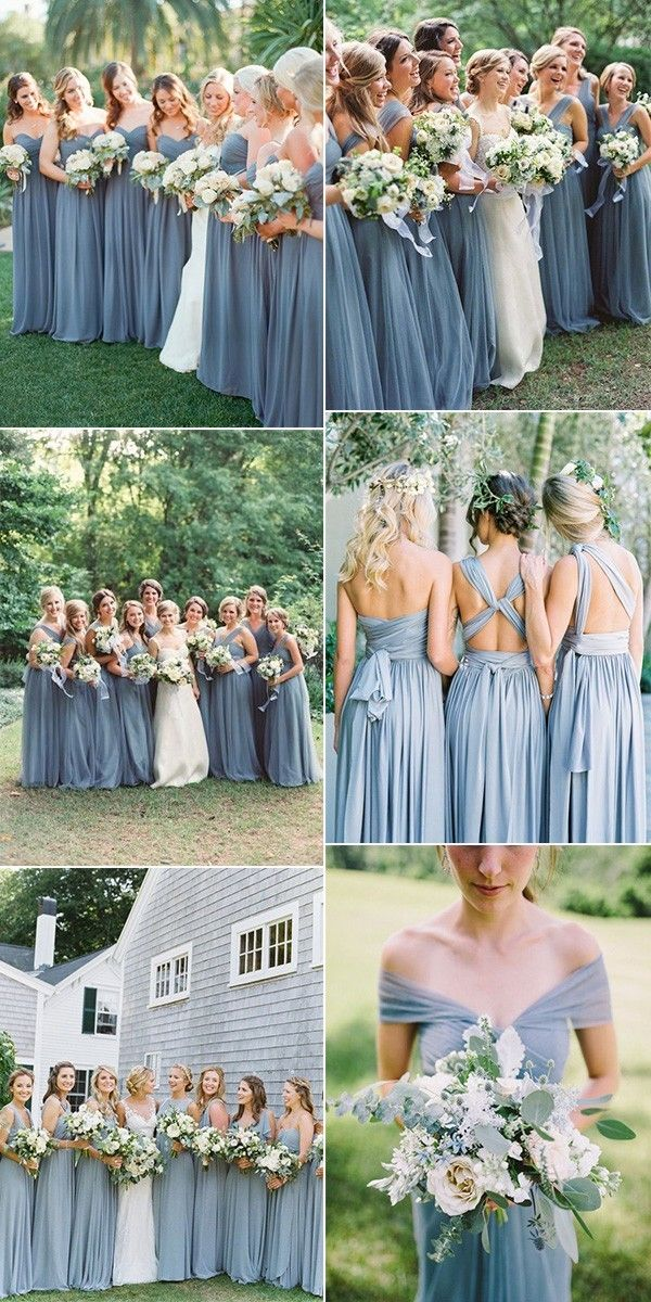 d8f94e8d22 trending dusty blue bridesmaid dresses  bridesmaids  bridalparty   weddinginspiration  weddingparty  bridesmaiddresses  bridesmaiddress