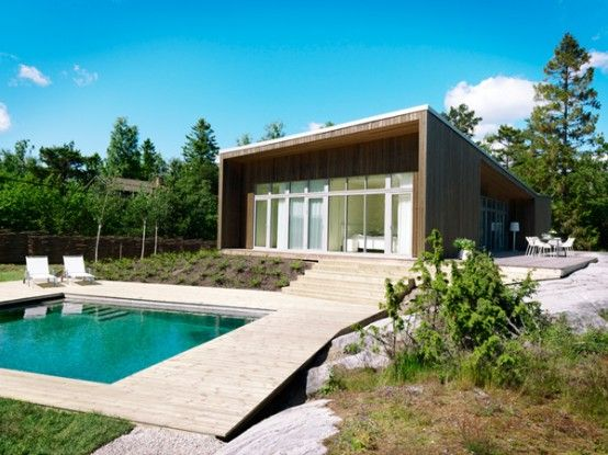 Scandinavian+One-Storey+House+with+Asymmetrical+Roof++Folded+Roof+House