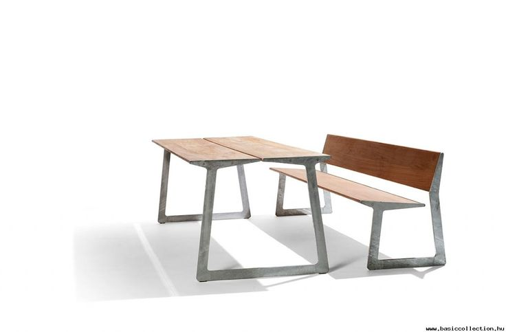 Bird - Basic collection The robust look of the Bird outdoor bench can be thank to the durable plantation teak and galvanized steel as materials which give the furniture a rough look, yet at the same time organic and refined. Greatly suitable for outdoor furniture, bench for terraces, hotel's gardens. #contractfurniture #woodentable