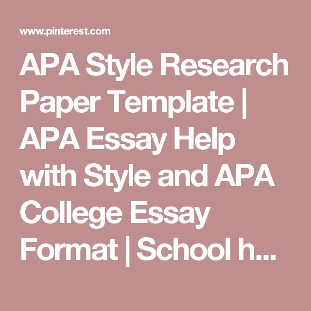 Help on college essay format template