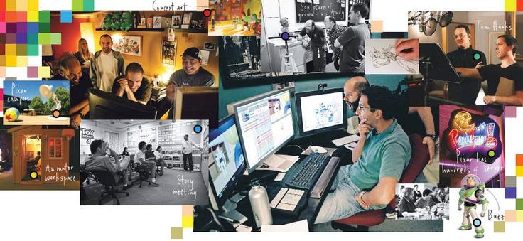Pixar Office Collage.