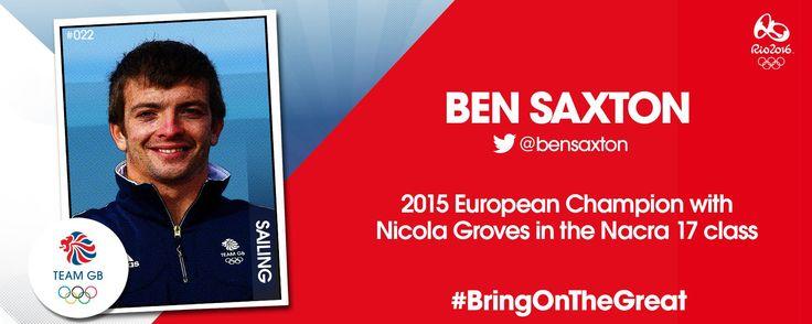 Ben Saxton is off to Rio 2016!