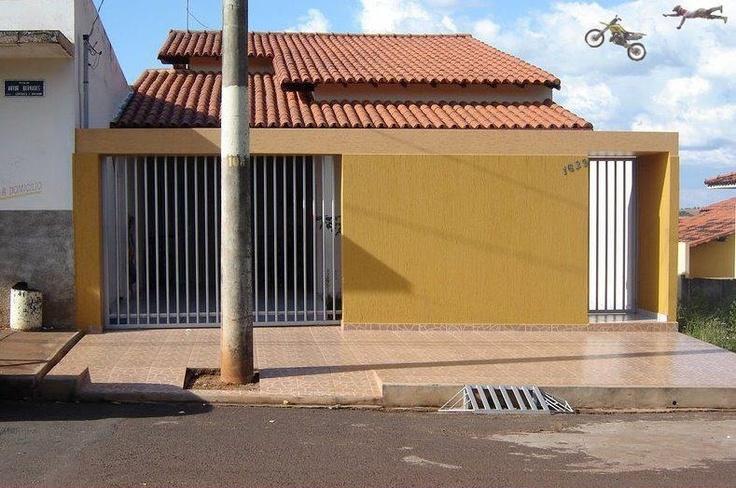 Vamos fazer a garagem do lado esquerdo, depois eu olho a posição do terreno na rua.