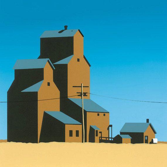 Grain Elevator 1 silkscreen print
