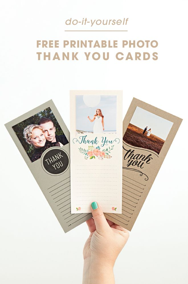 how to write thank you notes for wedding gift cards%0A Make These Darling  FREE Printable Photo Thank You Cards