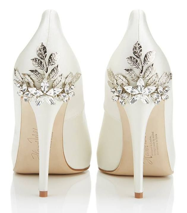 pretty white shoes with diamonds on the heel