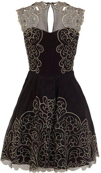 Baroque Cutwork Lace Dress - Lyst