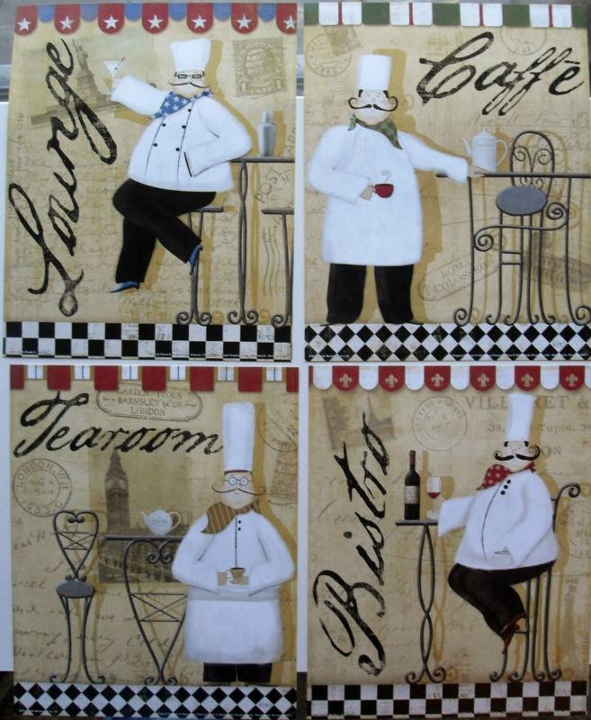Frameless Modern Cartoon Chefs Canvas Prints Restaurant: 63 Best ˜� Art ~ Bistro ˜� Images On Pinterest