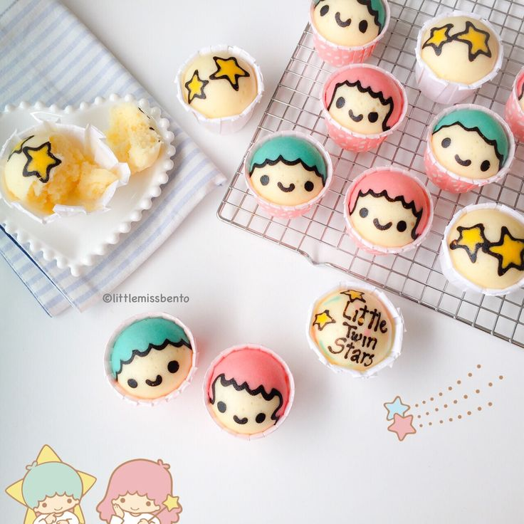 Little Twin Stars Steam Cakes - with recipe!