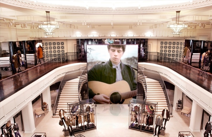 Burberry opens its largest flagship store.