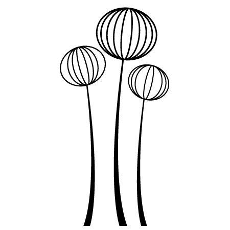 Stickers - Stickersmalin - Stickers fleur design