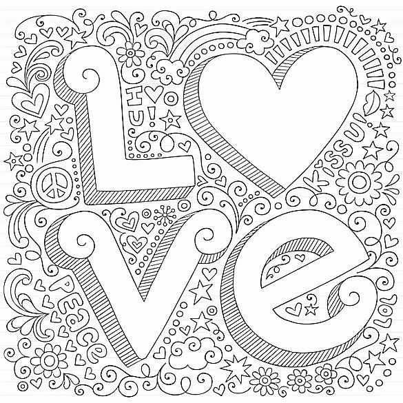 Love #Colouring Page