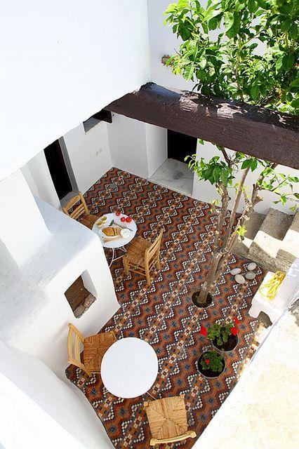 A lovely courtyard in Greece