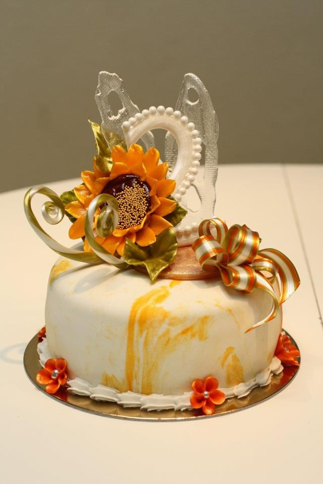 Sugar art sunflower cake decoration flower: sun flower ...