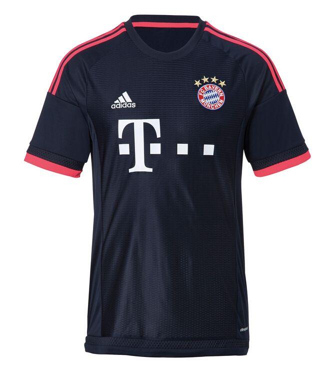 Vente Maillot De Foot FC Bayern München Third 2015 2016 Noir Kit