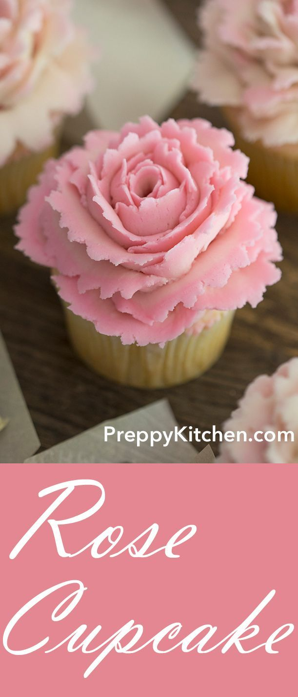 cupcake recipes for bridal shower%0A The rose petals are so easy to make and you will love the simple taste of  the cupcake  Perfect for Birthday parties  bridal showers  Mother u    s day and