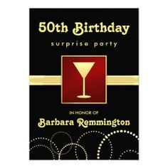 24 best 50th birthday invitation templates images on pinterest shop black gold surprise birthday party invite created by squirrelhugger filmwisefo