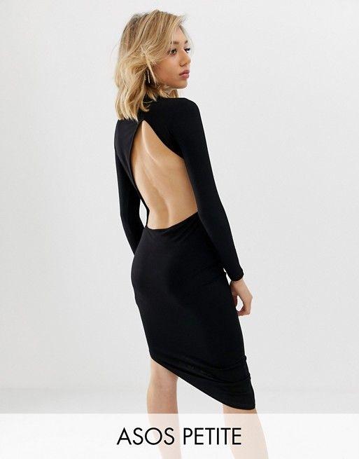 4d6ce02dcf2 DESIGN Petite extreme open back mini dress