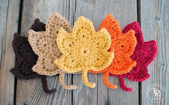 Fall Leaves Free Crochet Pattern-10