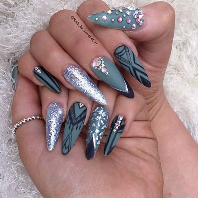 Crazy Nail Designs. glitter crazy nail design. large size ...