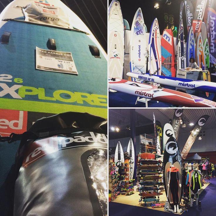 Watersports gear in abundance during the Funsports Xperience at RAI Amsterdam... #bmx #funsports #hiswa #wakeboarding #windsurfing #sup #skateboarding #surfing #kitesurfing #fun #watersports #funsportsxperience