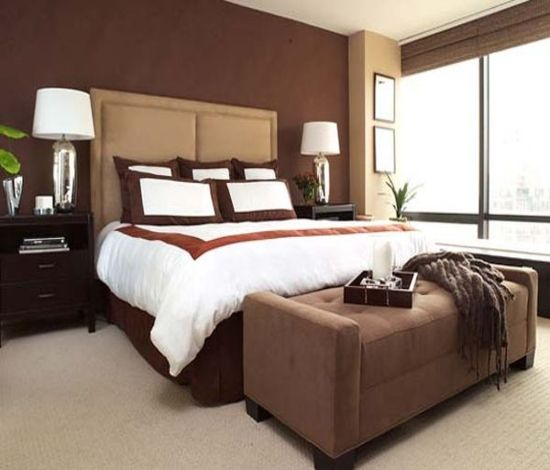 Bedroom Color Ideas With Accent Wall: 1000+ Ideas About Brown Bedroom Walls On Pinterest