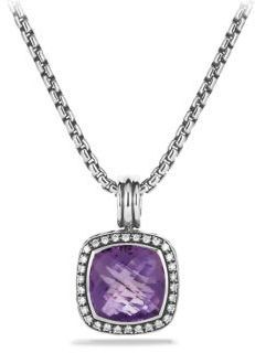 David Yurman Amethyst, Diamond & Sterling Silver Enhancer