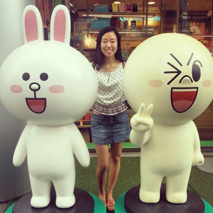 Amigos de #line han salido de los móviles...  #Seúl nunca deja de sorprender  #estilodevida #descubriendo #paseo
