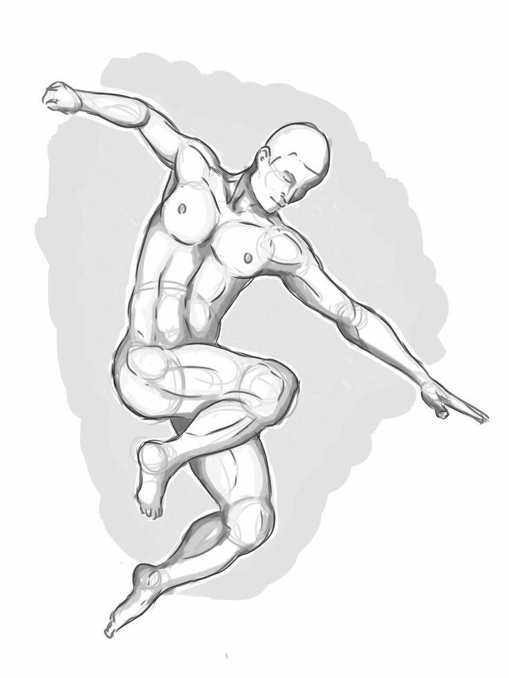 Man jumping, digital