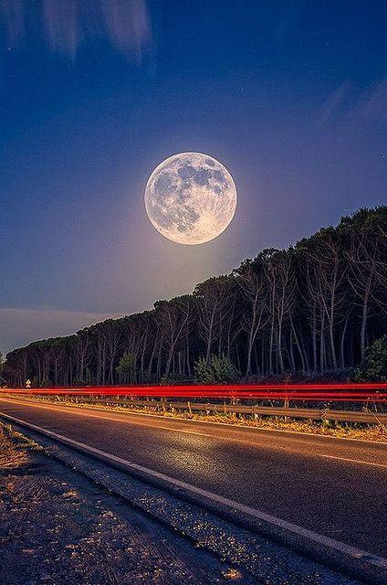 Super Moon, Sardinia, Italy